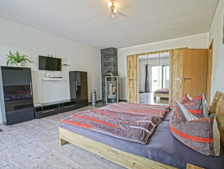 Ferienwohnung Nebengebäude Mönkebude Schlafzimmer