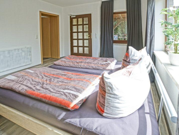 Ferienwohnung Herrenhaus EG Mönkebude 2 tes Schlafzimmer mit Terrassenausgang